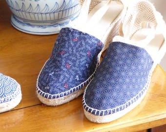 Lace-up espadrille mini wedges - BLUE COLLECTION - made in spain - www.mumicospain.com