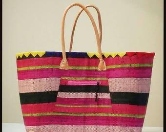 Raffia big shopping bag -  RAFFIA SHOPPING BAG - made in spain - www.mumicospain.com