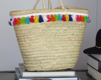 Excellent quality palm basket with tassel trim. 100% ecologic  - www.mumicospain.com