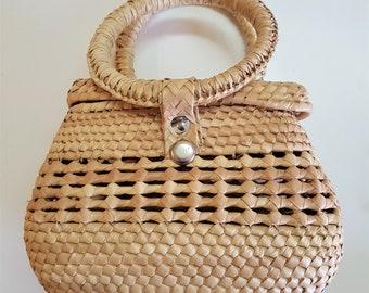 Special prices: Mexican fiber handbag -  NATURAL - round handles