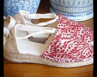 Lace-up Espadrille Mini Wedges - Asian Collection - Mumishoes - Made In Spain