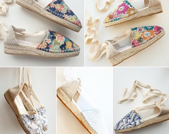 ESPADRILLE MINI WEDGES - organic vegan sustainable - Lace Up (3cm - 1.18i) - MuMiCo Collection 2020 - Made in Spain
