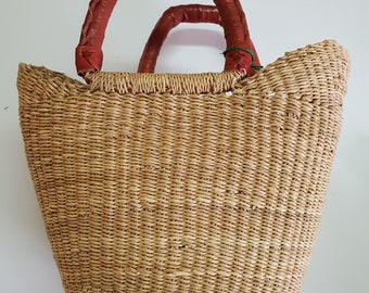 MINI BOLGA basket - Elephant grass African mini basket bag - made in Ghana - ecologic, sustainable, natural