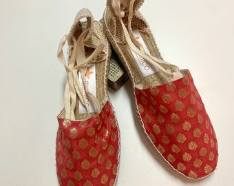 ESPADRILLE FLATS SIZE eu 41, golden collection - made in Spain - ecologic, sustainable, vegan