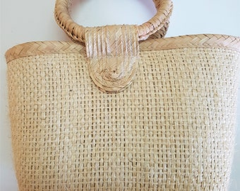 Special prices: Mexican fiber handbag -  NATURAL - round handles