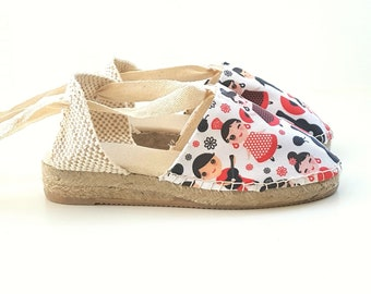 MINIWEDGES for girl: Lace-up espadrille mini wedges (3cm) - 2018 COLLECTION - made in spain - www.mumicospain.com