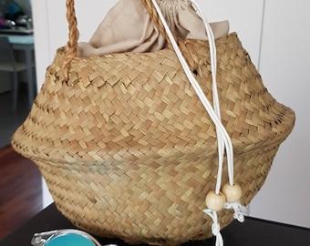OUTLET: Round basket bag - 100% ecologic - made in spain