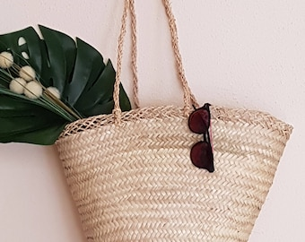 Excellent quality palm basket. 100% ecologic - RUSTIC - made in spain - www.mumico.es