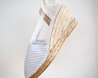 Lace-up espadrille wedges - NAVY&PIRATE COLLECTION - made in spain - ecologic, vegan, sustainable