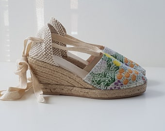 Lace-up Espadrille Wedges - BUGS COLLECTION - Made In Spain - www.mumicospain.com