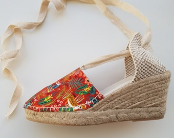 ESPADRILLE MINI WEDGES - organic vegan sustainable - Lace Up (6.5cm - 2.56i) - MuMiCo Collection 2020 - Made in Spain