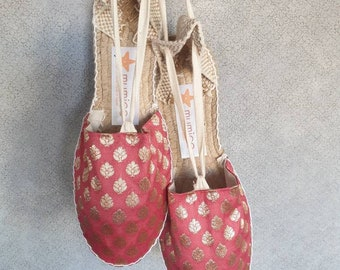 COLORFUL ESPADRILLE FLATS - Golden Collection - made in Spain - ecologic, sustainable, vegan