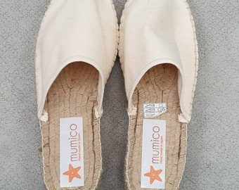 Espadrille slippers - IVORY or BLACK CANVAS - made in spain - www.mumicospain.com