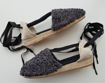 Lace-up Espadrille Wedges - WINTER COLLECTION - Made In Spain - www.mumicospain.com