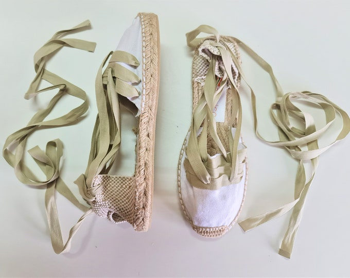 ESPADRILLE FLATS SIZE eu 39 (us 8.5), golden collection - made in Spain - ecologic, sustainable, vegan