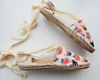 Lace-up flat espadrilles - FRENCHIES - made in spain - www.mumicospain.com