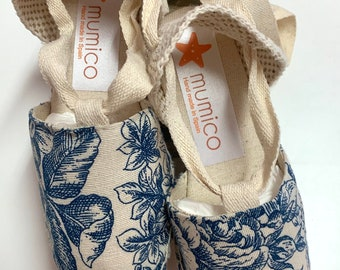 ESPADRILLE WEDGES size eu 29- organic vegan sustainable - Lace Up (3cm - 1.18i) - ToILE De JoUY3 - Made in Spain