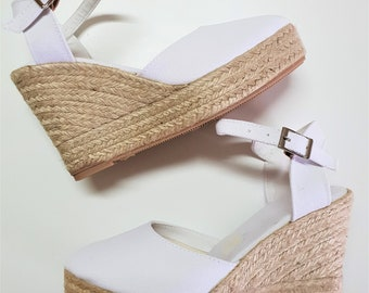 Ankle strap Espadrille Platform Wedges - Made In Spain - www.mumicospain.com