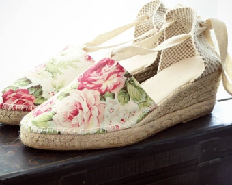 Lace-up Espadrille WEDGES - VINTAGE COLLECTION - Made In Spain - www.mumicospain.com
