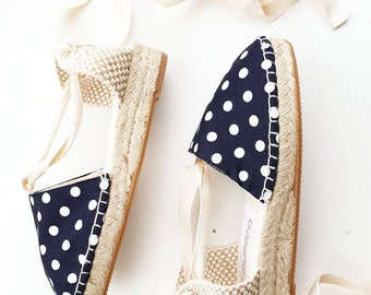 Shoes for girl: Lace-up mini wedge espadrilles - 2021 COLLECTION - made in spain - www.mumicospain.com