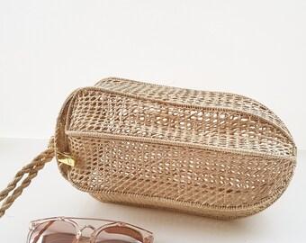Iraca palm handbag - PINEAPPLE shaped IRACA PALM basket bag - handmade in Colombia
