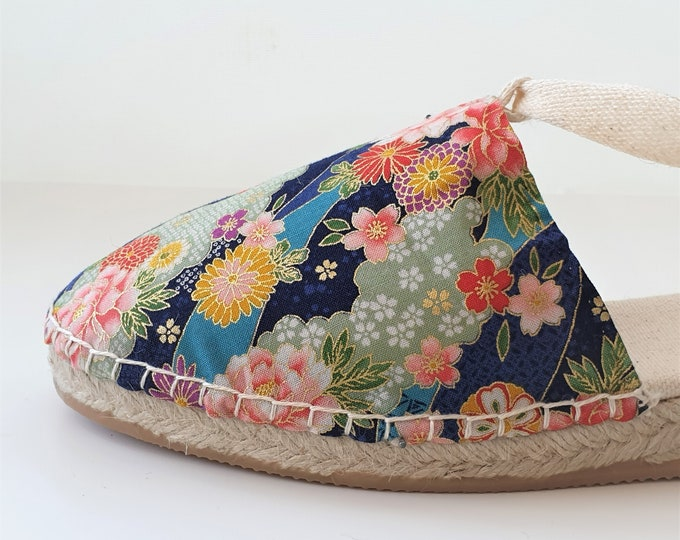 Lace-up espadrille wedges - JAPANESE COLLECTION - made in spain - ecologic, vegan, sustainable