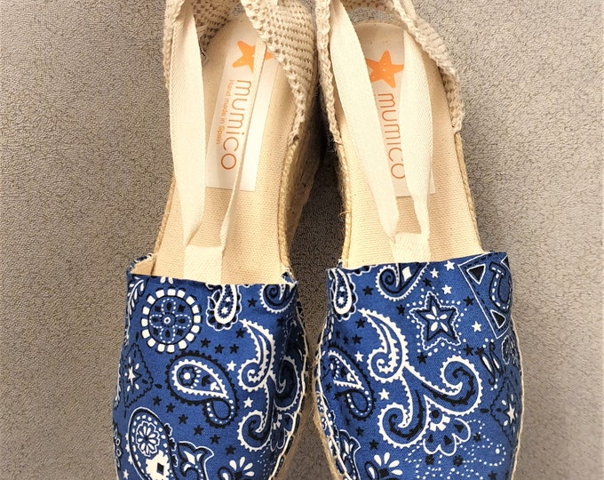 COLORFUL ESPADRILLE FLATS - Bandana Collection - Cowboy - made in Spain - ecologic, sustainable, vegan