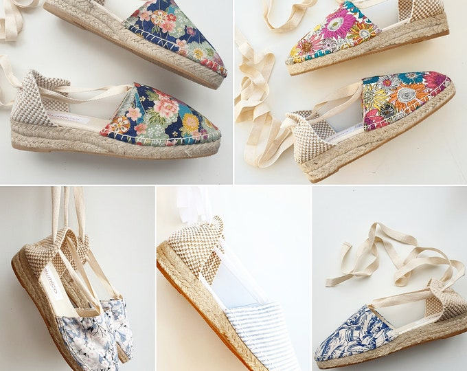 ESPADRILLE MINI WEDGES - organic vegan sustainable - Lace Up (3cm - 1.18i) - MuMiCo Collection 2021 - Made in Spain