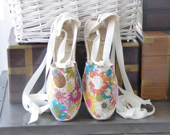 FLAT shoes for girl: Lace-up flat espadrilles - 2021 COLLECTION - made in spain - www.mumicospain.com