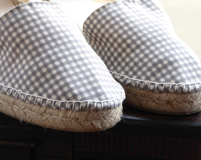 COLORFUL ESPADRILLE FLATS - Gingham & Moles Collection - made in Spain - ecologic, sustainable, vegan