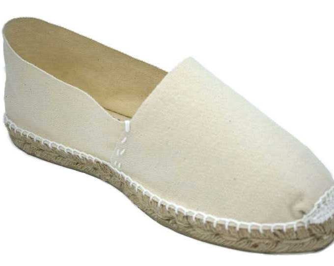 UNISEX ESPADRILLES FLATS - ivory canvas - Made in Spain - ecologic, vegan, made in Europe