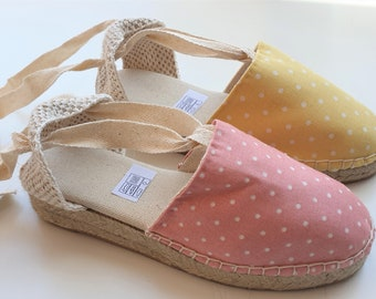 Shoes for GIRLS: Lace-up espadrille mini wedges for girls - SUMMER 2021 SPECIAL collection - made in spain - www.mumico.es