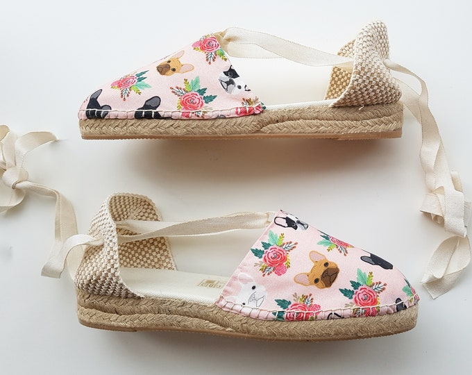 ESPADRILLE WEDGES - organic vegan sustainable - Lace Up (3cm - 1.18i) - Frenchies Collection - Made in Spain