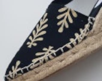 ESPADRILLE WEDGES - organic vegan sustainable - Lace Up (3cm - 1.18i) - Golden Collection - Made in Spain