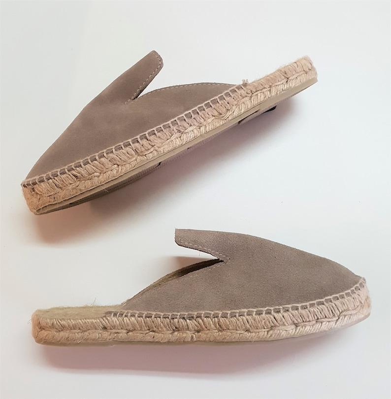 dece6f17d Alpargatas planas tipo mule MULES SERRAJE made in Spain