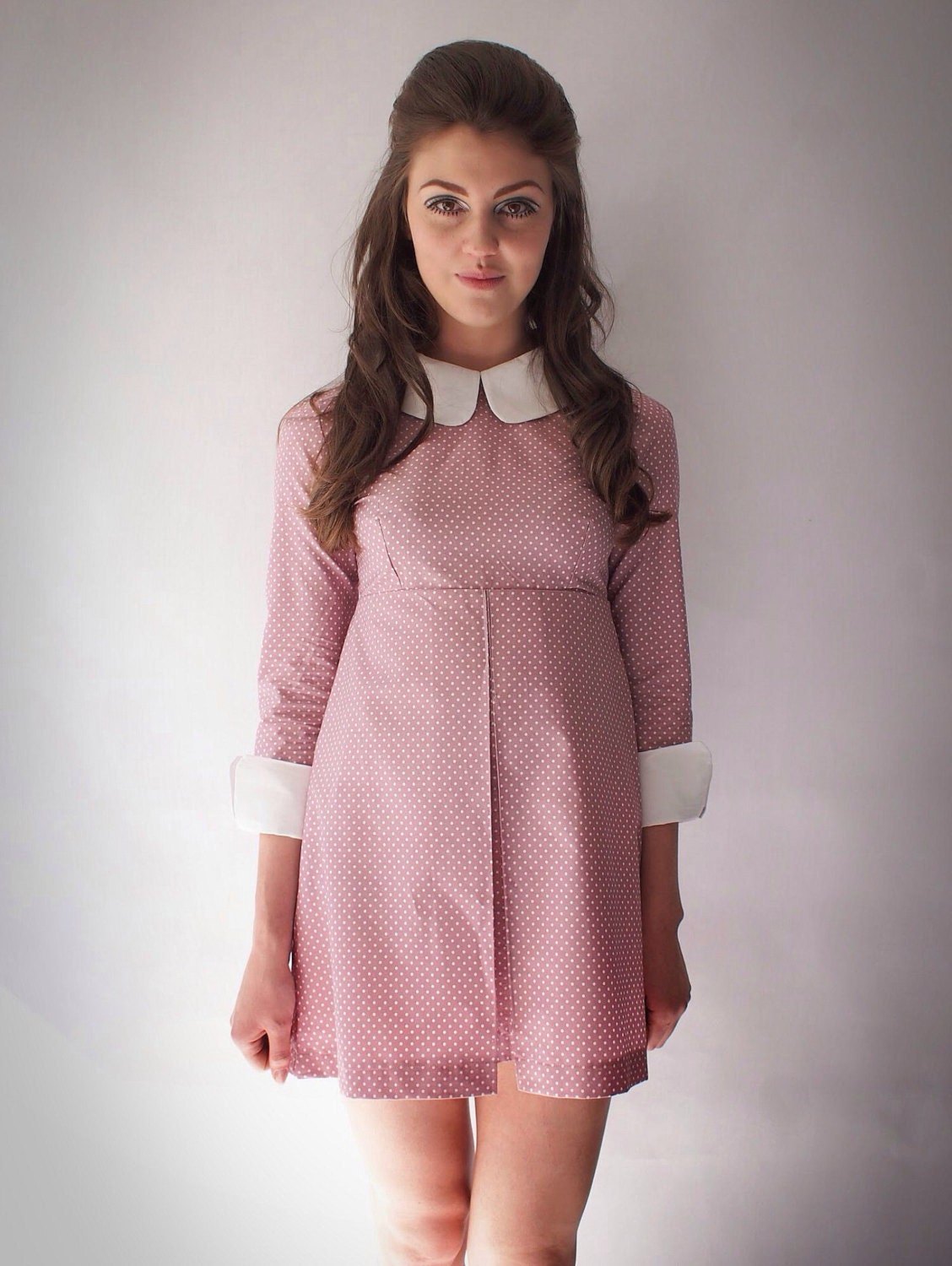 1960\'s Reproduction Mod Dress Suzy Bishop style Rose pink