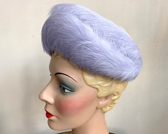 1950s/1960s Lilac Feather Hat
