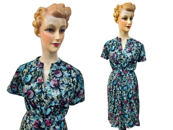 1940s / 1950s Handmade Dress | Size Large