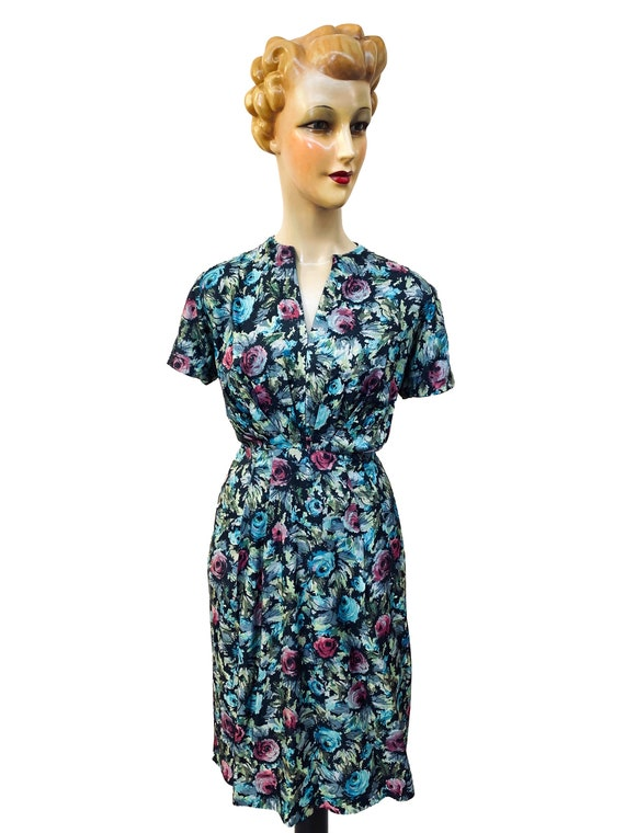 1940s / 1950s Handmade Dress | Size Large - image 2