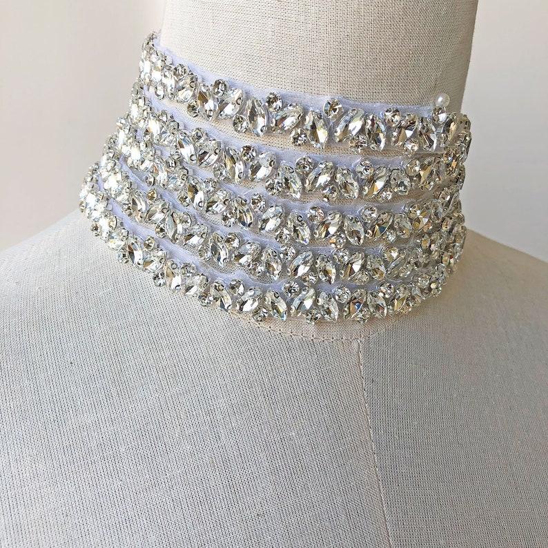 Wedding Applique Accessories Crystal Bridal Dress Diamante Trim Beaded Motif