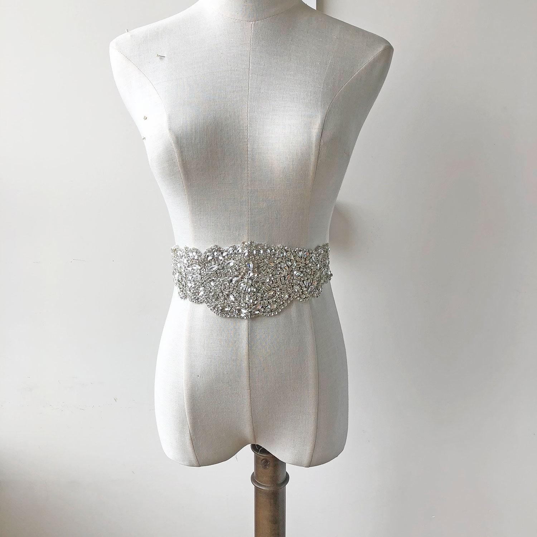 c5a575b29a82 Mousseux mariée applique ceinture de mariée Mousseux cristal clair, chaud  fixe strass Diamante pièces pour
