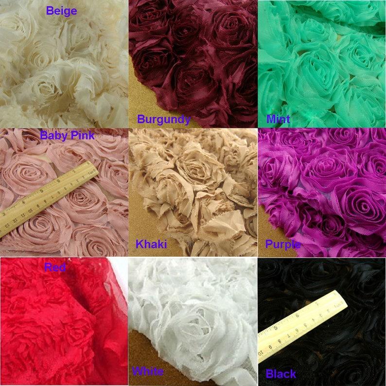 cdf7bca68405 3D Rose Lace Fabric Flower Lace Fabric Chiffon Lace