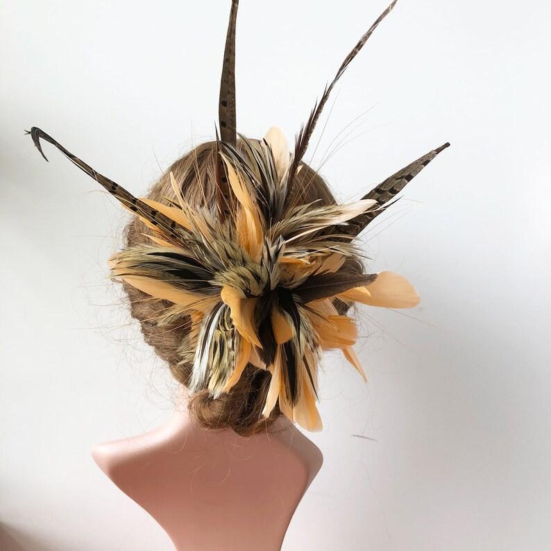 Hat Flower Feather Mount Millinery Feather Flowers Headwear  20c9d102478