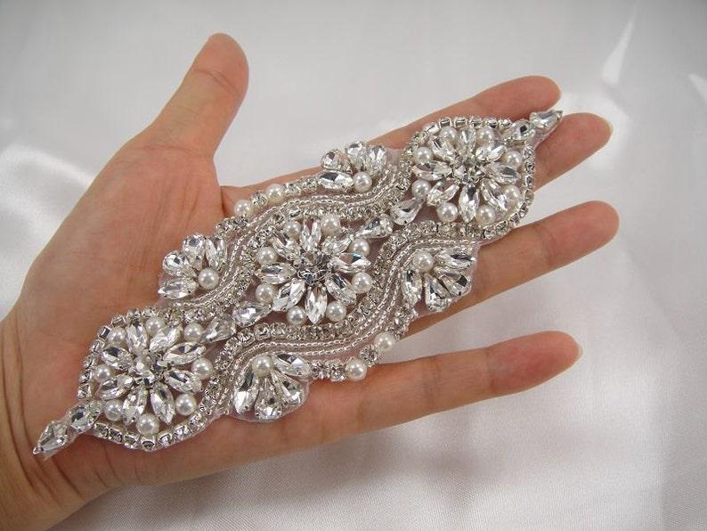 Applique applique strass nuziale di cristallo sash diamante etsy