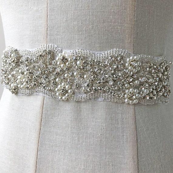 d8fda67d39b1 Mariage détails cristal ceinture Applique coupe strass perle détails  Mariage point jupettes Appliques pour mariage robe ...