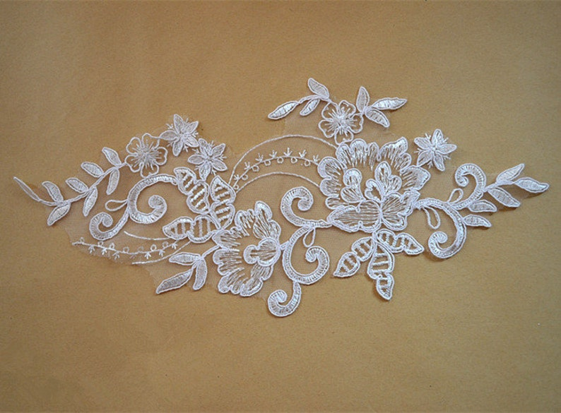 Lace applique trim wedding lace applique bridal lace etsy