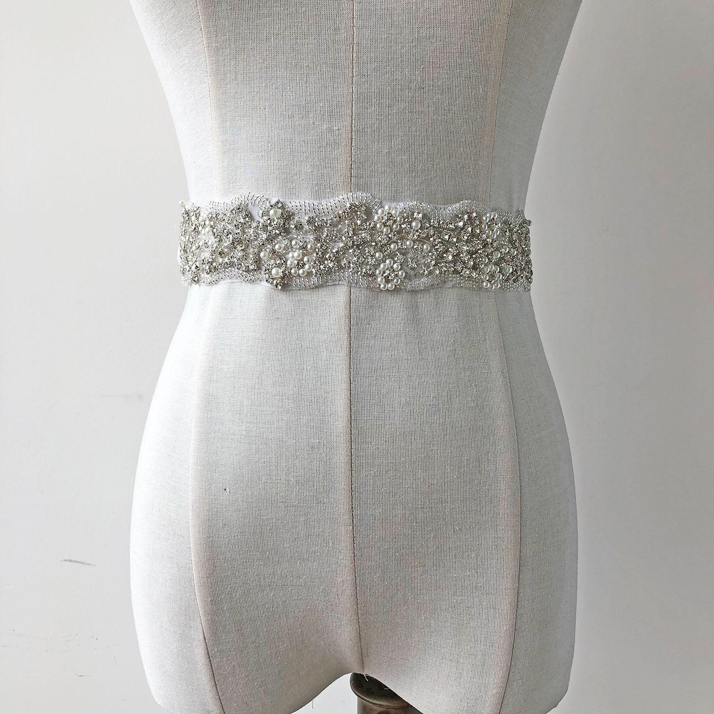 e0a5bc8acb94 Mariage détails cristal ceinture Applique coupe strass perle détails  Mariage point jupettes Appliques pour mariage robe