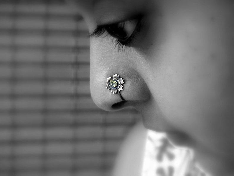 Flower Nose Stud Crock Screw Nose Stud Indian Nose Stud Gold Nose Piercing Gold Nose Stud Tinny Nose Stud Nose Piercing Nose Jewelry 22g