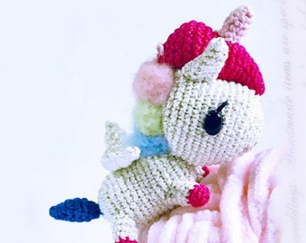 Mini Tokidoki Unicorno - Stellina, licorne, breloque sac, chaîne à clés, accessoire de sac, licorne au crochet