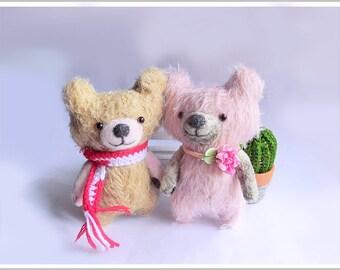 Mohair Bear-Making and Needle Felting DIY Kits, Sewing Patterns, PDF File, Video Tutorials, Wool Felting